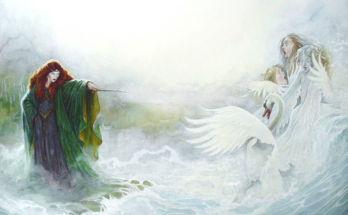 Aoife Children of Lir swans