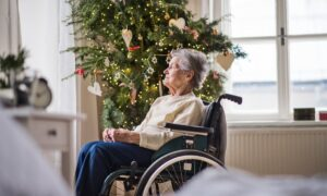 elderly,old,christmas,lonely