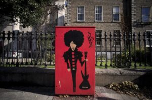 Phil Lynott on Rathmines Road, painted by JayFik as part of Dublin Canvas. Pic © Karl Ffrench