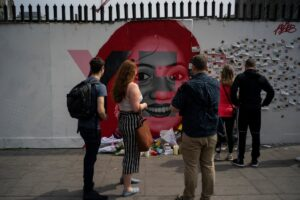 Aches'mural on Richmond Street, which depicted an image of Savita Halappanavar.