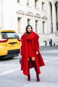 Red Monochrome Layering Winter